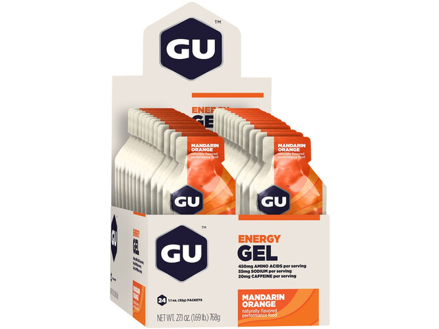 GU Energy Gel Box 24x32g, Mandarin Orange (2019) | Energy gels
